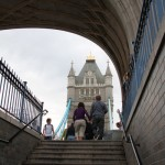 Entering Tower Bridge London