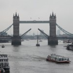 Tower Bridge with Bascules Opening London