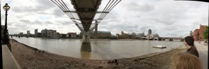 London Millennium Bridge (Pano-Autostitch)