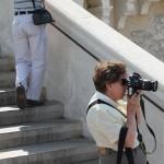 Tourist at Notre-Dame de la Garde, Marseille